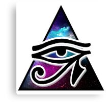 Eye of Horus with plain background Canvas Print