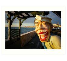 Smiling Sailor, Piran Art Print