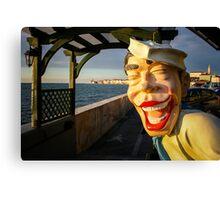 Smiling Sailor, Piran Canvas Print