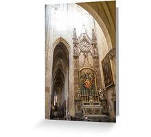 France. Toulouse. Cathedral. Interior. Greeting Card