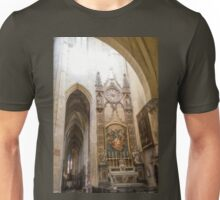 France. Toulouse. Cathedral. Interior. Unisex T-Shirt