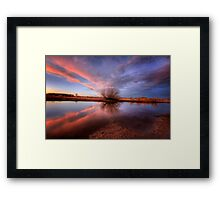 Shooting Pink Framed Print