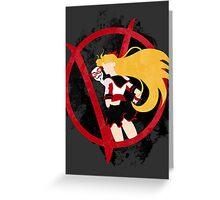 Sailor V for Vendetta Greeting Card