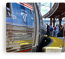 Amtrak Regional at New London RR Station  Canvas Print