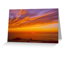 SunBurst SeaScape Greeting Card