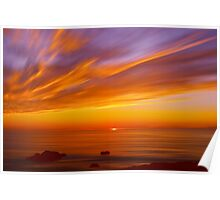 SunBurst SeaScape Poster