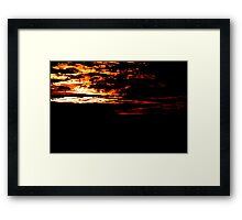 Fiery Bush Sunset Framed Print