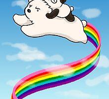 Over The Rainbow by Panda And Polar Bear