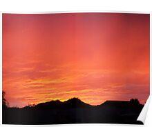 Sunset in Tucson Az. Poster