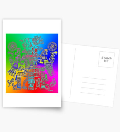 Xiuhtecuhtli, RGB Gods, Myths & Monsters Postcards