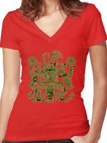 Xiuhtecuhtli, RGB Gods, Myths & Monsters Women's Fitted V-Neck T-Shirt