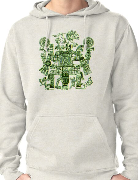 Xiuhtecuhtli, RGB Gods, Myths & Monsters Pullover Hoodie
