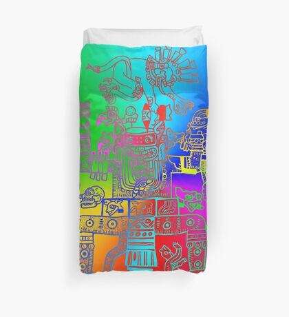Xiuhtecuhtli, RGB Gods, Myths & Monsters Duvet Cover