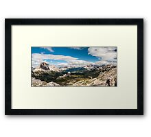 Averau Panorama Framed Print