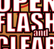 Open Flash and Clear Sticker