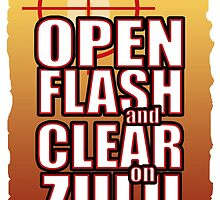 Open Flash and Clear by SquareDog