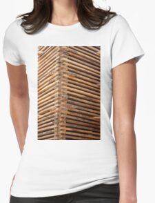 Drying Lumber Womens Fitted T-Shirt