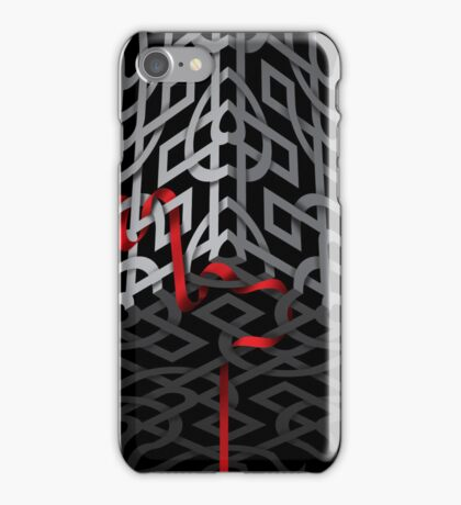 Red ribbon, grey ribbon iPhone Case/Skin
