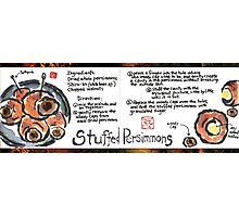 Illustrated Recipe: Stuffed Dried Persimmons Photographic Print