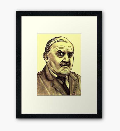 Ronnie Barker celebrity portrait Framed Print