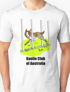 Koolie weaving, with Koolie Club of Australia T-Shirt