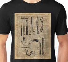 Antique Surgical Kits,Anatomy Medical Instruments,Surgery Asylum Vintage  Decoration,Dictionary Art, Unisex T-Shirt