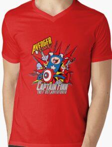 Captain Finn the First Adventurer Mens V-Neck T-Shirt