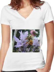 My Honey Bee Women's Fitted V-Neck T-Shirt