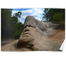 Stone sculpture Poster