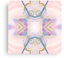 Pink and Blue Pastels Canvas Print