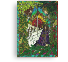 New, Yule Card, 2011 Canvas Print