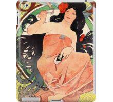 Job Cigarette Papers 1898 Vintage Poster Restored iPad Case/Skin