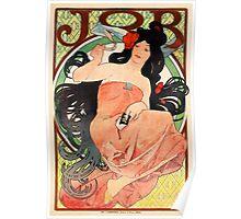 Job Cigarette Papers 1898 Vintage Poster Restored Poster