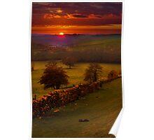 A Peak District Sunset Poster