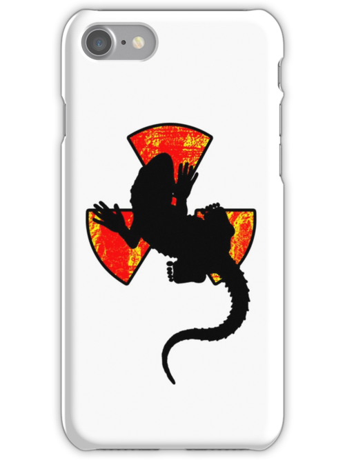 Radiactive Gecko - Funny iPhone Case by Denis Marsili