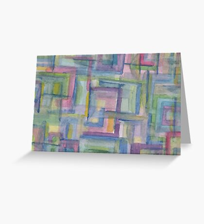 Colored boxes Greeting Card