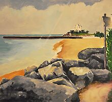 Evanston Beach by Polly Greathouse