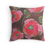 Red-brown deco Throw Pillow