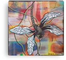 Kris the dragonfly Canvas Print
