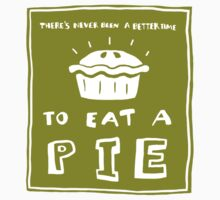 Time to eat a pie (green) Kids Tee