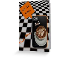 Let's Do Coffee iphone Invitation Card Greeting Card