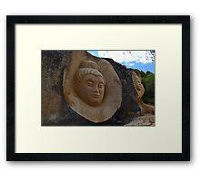 Stone sculptures Framed Print