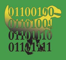 dino binary code t-rex design One Piece - Short Sleeve
