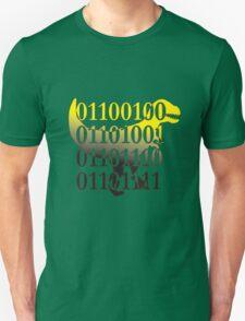 dino binary code t-rex design Unisex T-Shirt