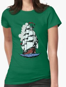 Sailing ship Womens Fitted T-Shirt