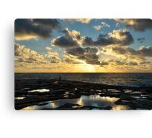 Sunset On The Saltpans Canvas Print