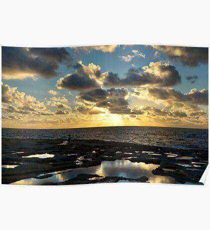 Sunset On The Saltpans Poster