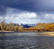 Virga over the Clark Fork River by amontanaview