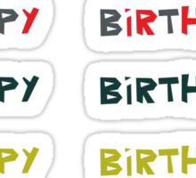 Happy birthday stickers Sticker