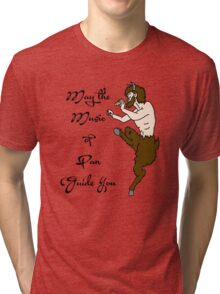May the Music of Pan Guide You Tri-blend T-Shirt